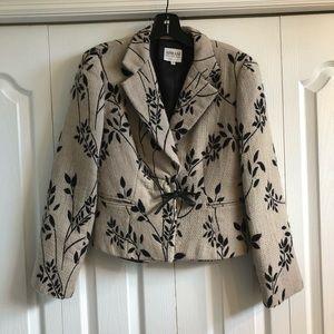 Armani jacket with leather tie closure